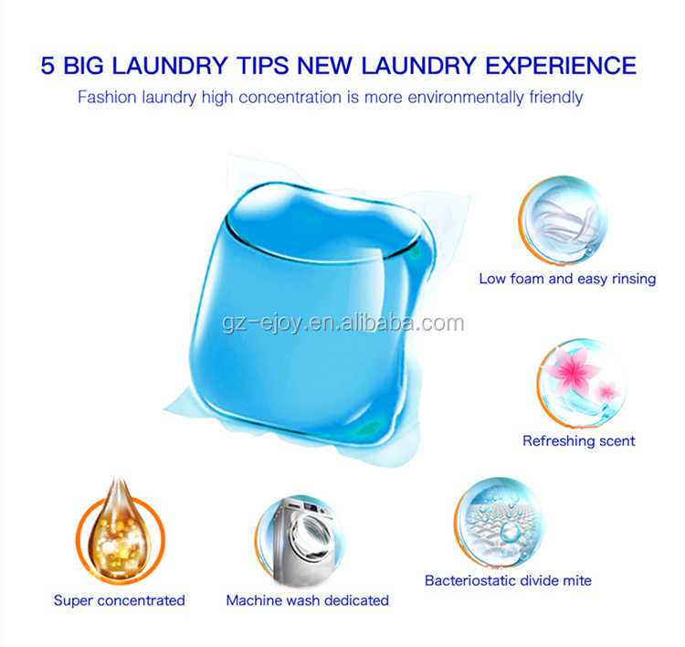 OEM 8g High Quality Super concentrated Liquid Washing Detergent capsules Laundry Pods