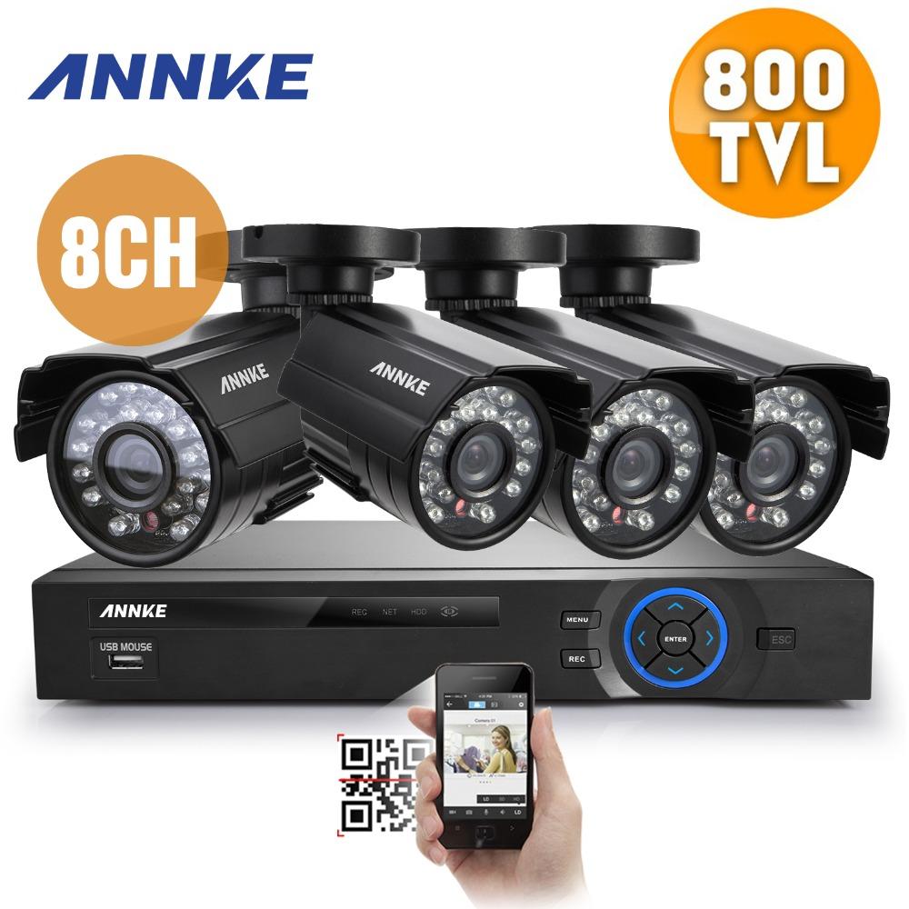 SANNCE 8CH CCTV System 960H DVR 4PCS 800TVL IR Weatherproof Outdoor CCTV Camera Home Security System Surveillance Kits