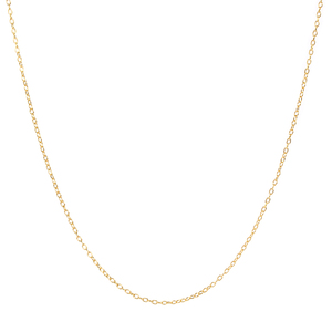 Wholesale new design pure sterling 925 silver basic real gold plated chain jewelry necklace for girl