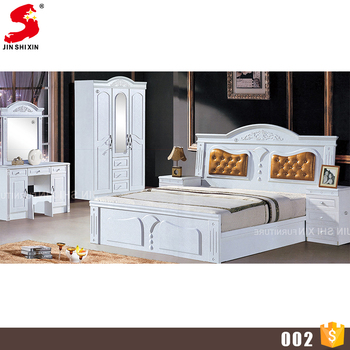 Factory Price White Color Mdf Wood Modern Home Furniture Luxury Kids Bedroom Set For S