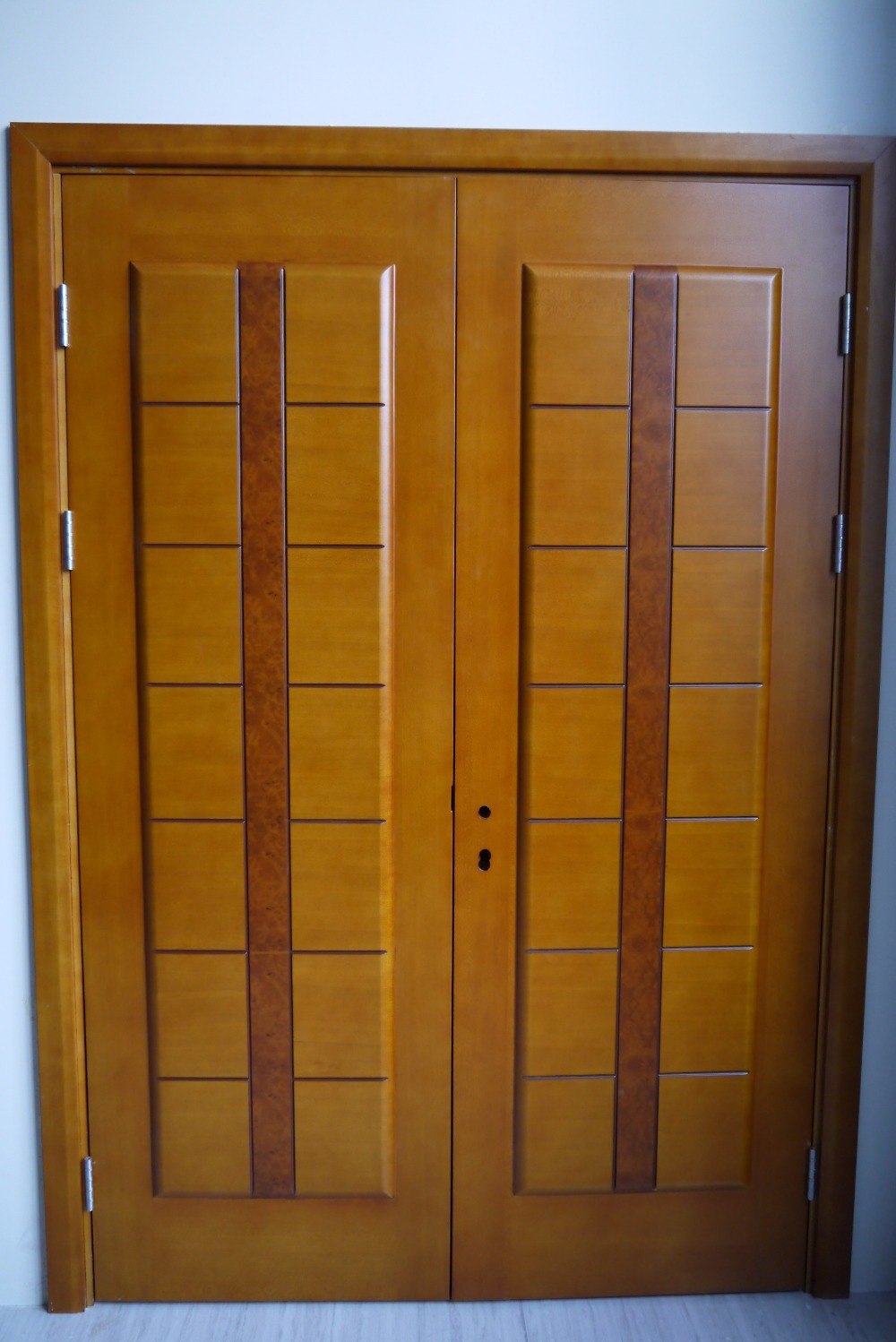 Prehung exterior double door 96 wood mahogany 2 panel Best door designs