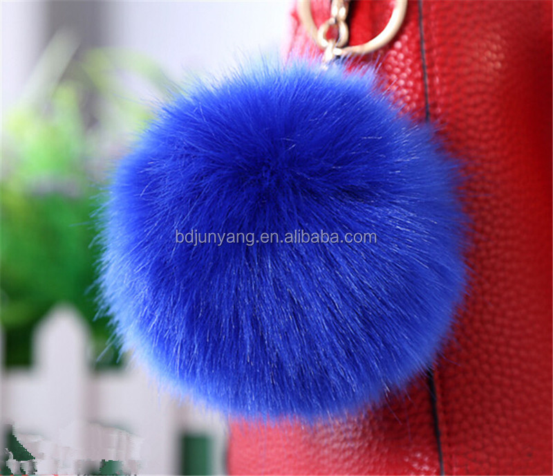 fur pom/fur pom poms ball/rabbit fur ball