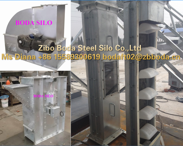 small type grain chain bucket elevator