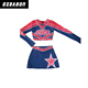 customized Girls and Kids Custom Long Sleeve red Cheerleading Uniforms,crop tops cheerleading uniforms Wholesale