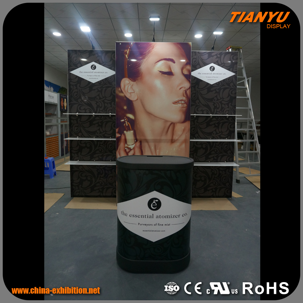sales promotion floor standing exhibition booth material