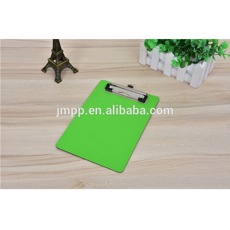Factory supply adjustable custom color printed PP plastic paper clip board