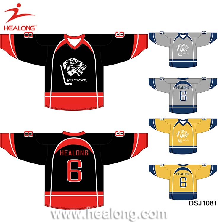 a2c973240 Custom Ice Hockey Jersey Team Set Cheap 6XL Hockey Jersey Shirts Wear