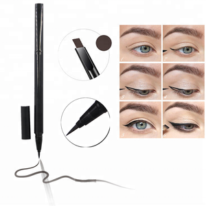 4 Color Eyebrow Private Label Double Ended Brow Eyeliner Pencil