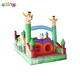 Baby toys cartoon animals theme inflatable obstacle course