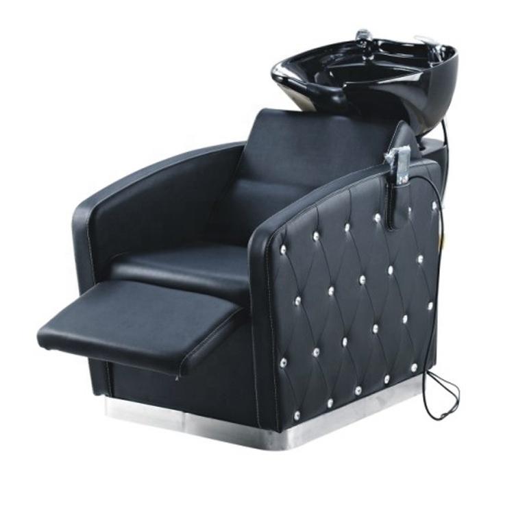 Shampoo chair hair salon furniture reclining shampoo chair with footrest
