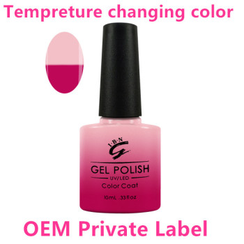 60 Colors Available Heat Activated Colour Changing Uv Gel Nail Polish