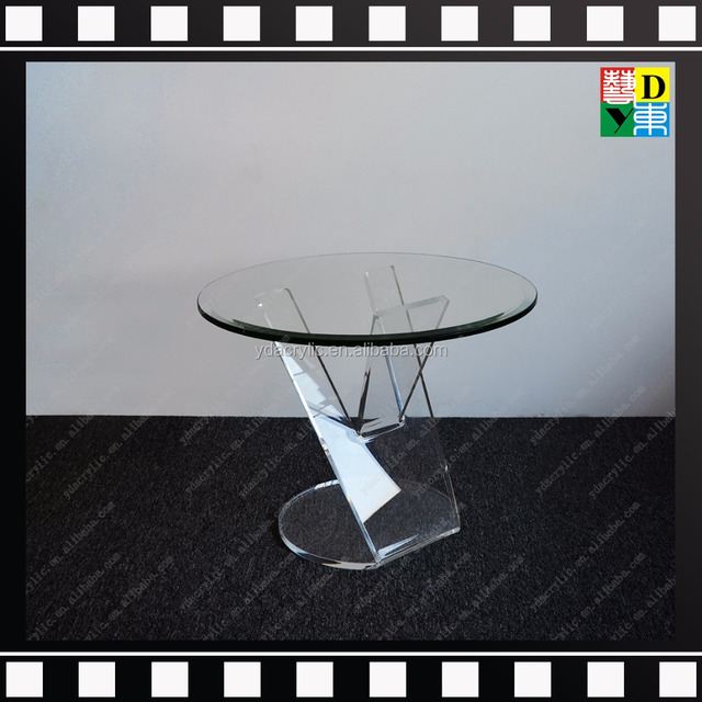 Acrylic Small Round Coffee Table Lucite Bar Table Modern Furniture Table