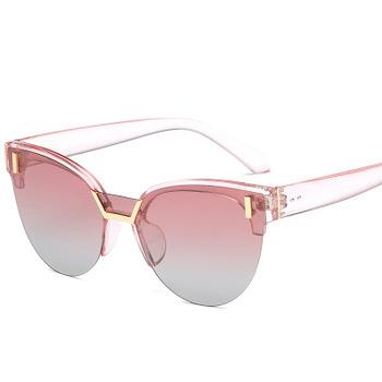 3ac4cf9b56 2018 half frame polarized sunglasses
