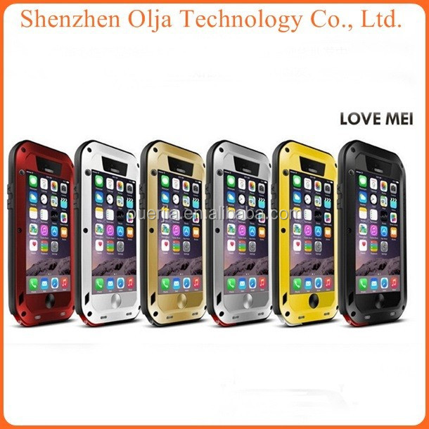 Popular Metal LOVE MEI Aluminum Waterproof Case For iPhone 6 iPhone6, For IPhone 5 Metal Case Waterproof