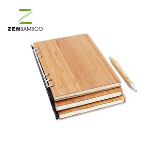 Simple Styled Bamboo Notebook Craft Notebook for Gift