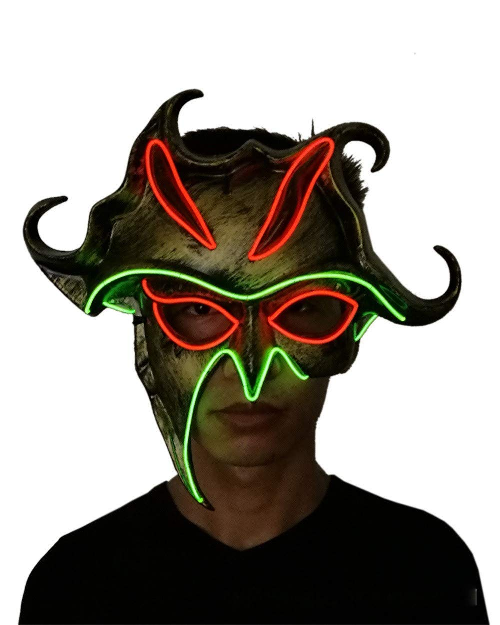 Aobiny Halloween Mask LED Masks Glow Scary Mask Light Up Cosplay Sun God Mask