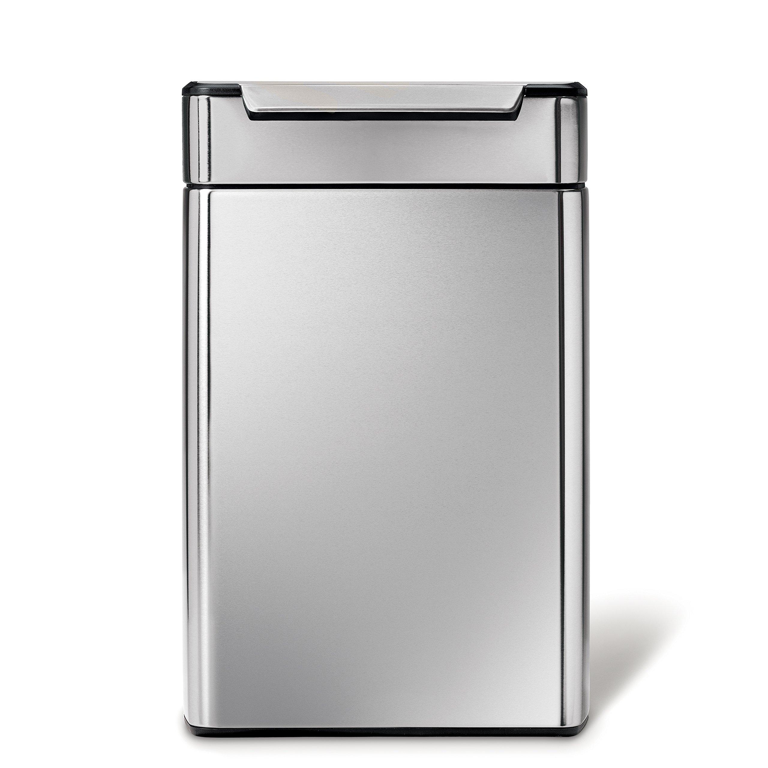 dual compartment trash can simplehuman simplehuman 48 liter 127 gallon stainless steel touchbar kitchen dual compartment trash can cheap can find