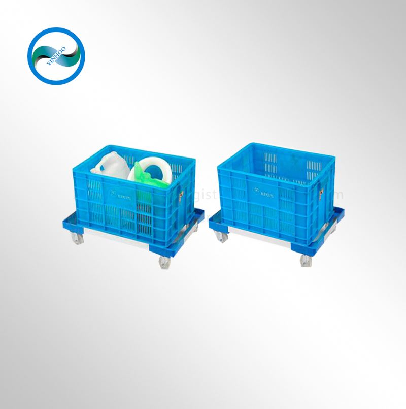 2015 new style plastic aluminum plant transport trolley with wheels