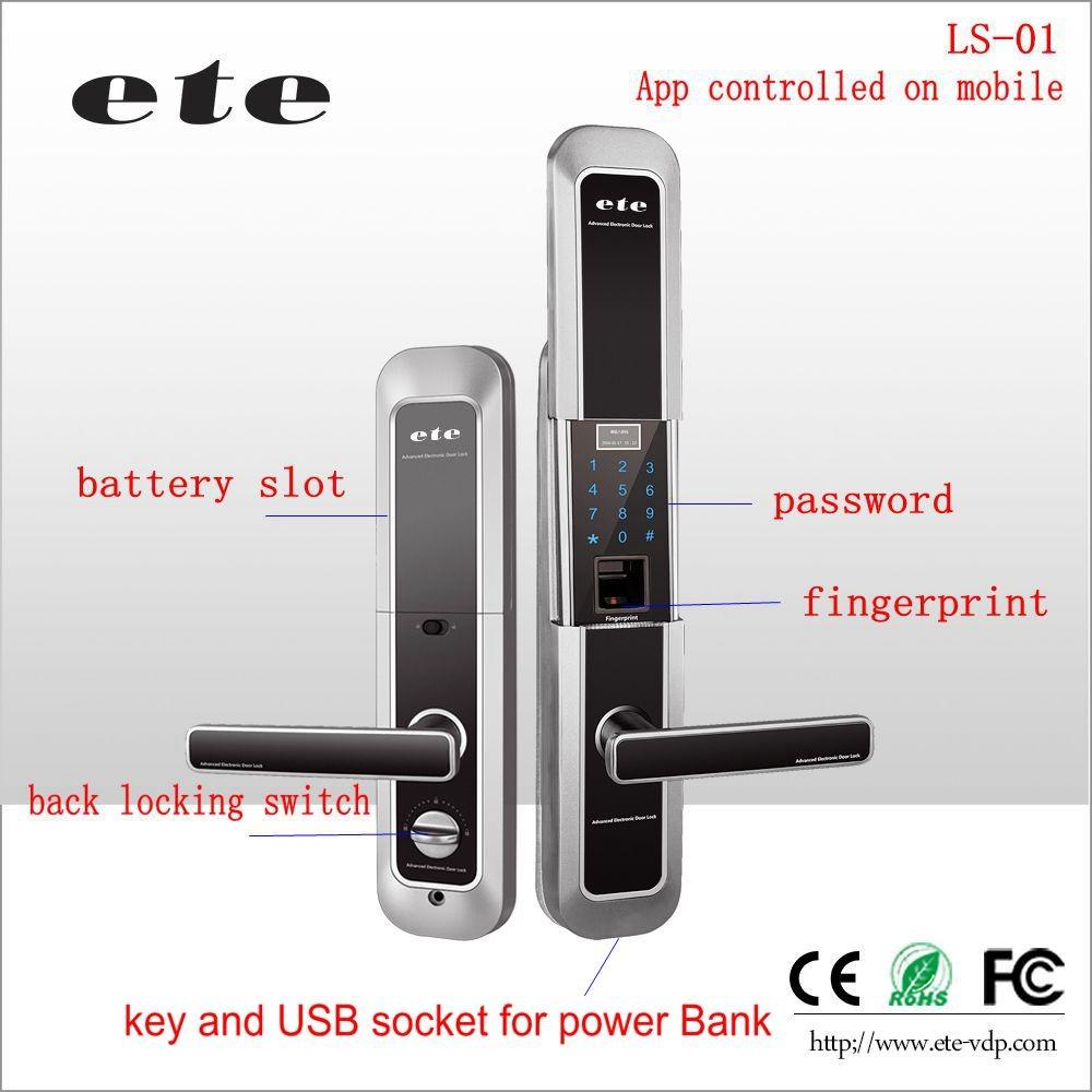 de51d2a50766 ETE hidden keypad Entry residential Door Lock door handle card ( optional )  code   password