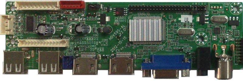 2013 Innovative Full Function LCD/LED TV Board Expanded Port Board Can Support 1~2 AV Input 1AV Output And 1YPBPR Input
