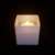 Square glass candle holder with lid black white cube candle jars