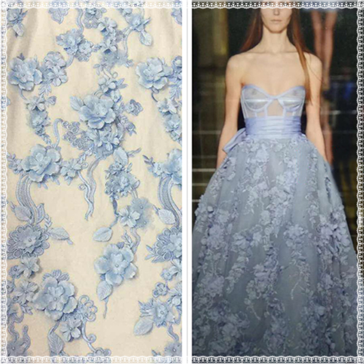 Lace Wedding Dress Material Beads Decoration Handwork 3d Lace ...