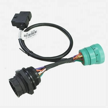 Sae J1939 Off-board Diagnostic Male To Female Connector Cable With Obd2  Cable Assembly - Buy Obd2 Diagnosegerat,J1939 To Obd2 Adapter,Obd2 Cable