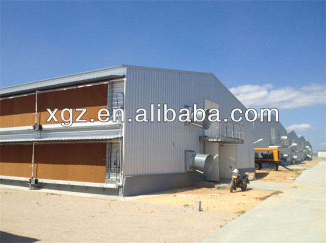 full automatic prefab chicken egg poultry farm