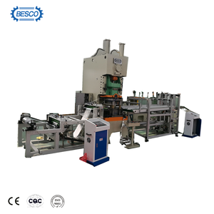 Pneumatic aluminum foil punching machine for containers and lids