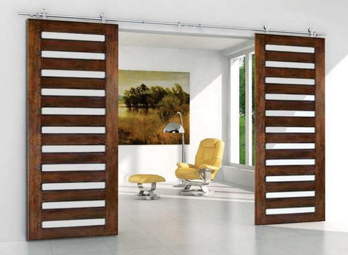 מותג חדש עץ הזזה חומרת דלת אסם עץ עתיק מחיר הטוב ביותר-דלתות-מספר זיהוי UU-19