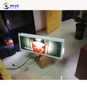 4G/3G/USB/Wifi wireless led outdoor digital signage outdoor digital led outdoor for taxi top mini advertising led screen