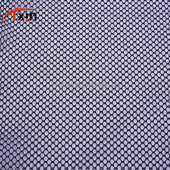 Tongxin Textile hexagonal netting laundry bag polyester big hole mesh fabric
