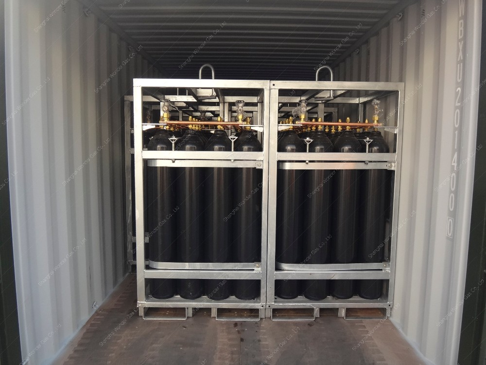 Promotional DNV Offshore Used Mobile Nitrogen Cylinder Rack With 16/18 Cylinders