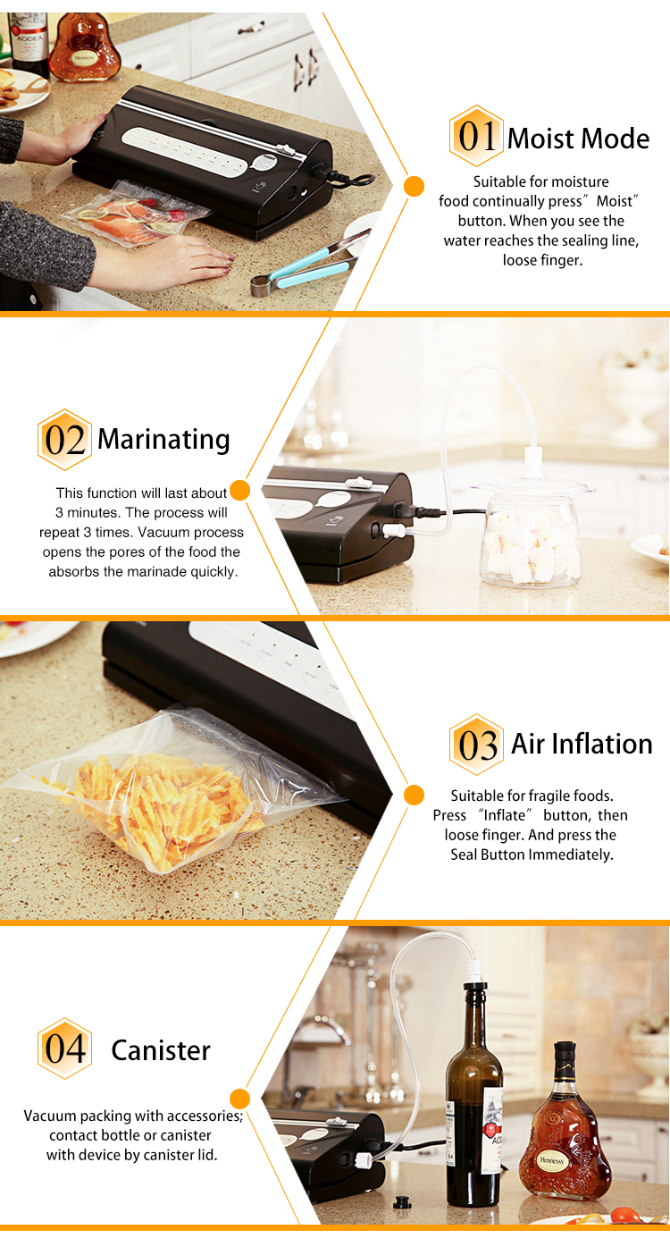 Stable Quality Portable Electronic Automatic Commercial Vacuum Sealer - Buy  Commercial Vacuum Sealer,Automatic Vacuum Sealer,Vacuum Sealer Product on