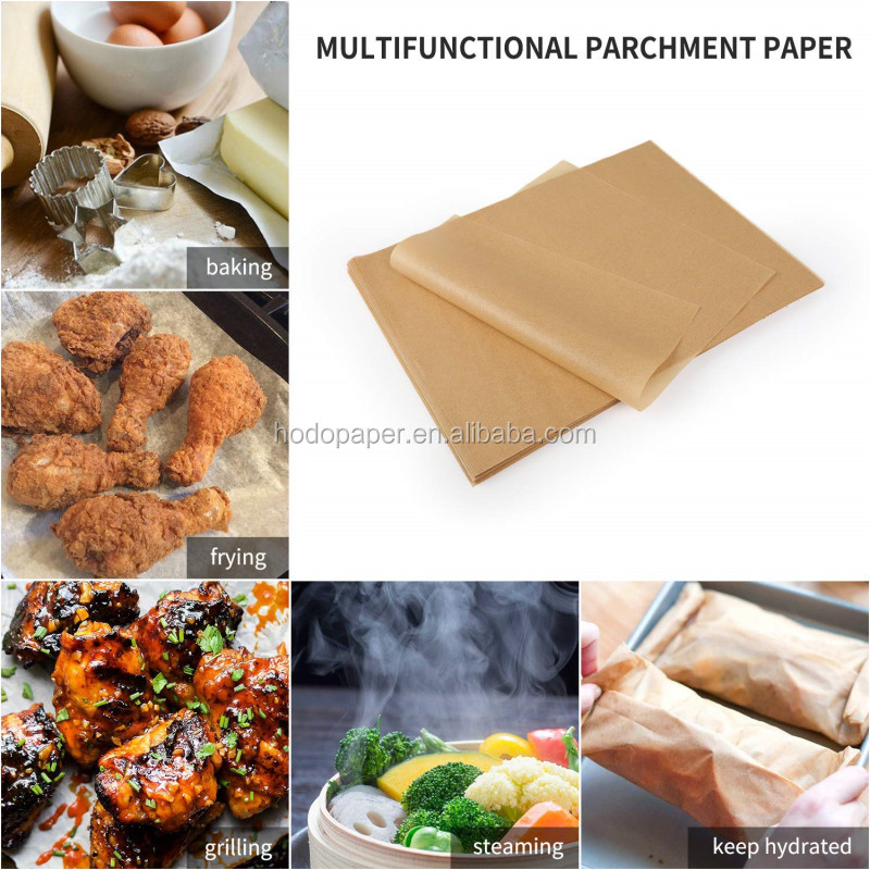 Multifunctional use Unbleached Parchment Paper Baking Paper Sheets for 12x16 Inch Half-Sheet Baking Pan (200 Pcs)