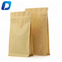 14X24cm kraft paper zip lock flat bottom bag