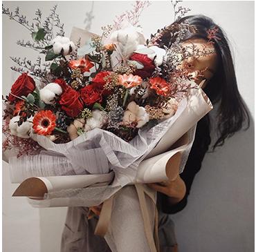 20pcs Korean DIY Flower Wrapping Mesh Gift Packaging Material Bouquet Florist Supplies non woven fabric Wedding Decoration