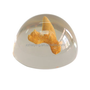 Clear transparent colorful acrylic/resin ball half round ball paperweight ornaments