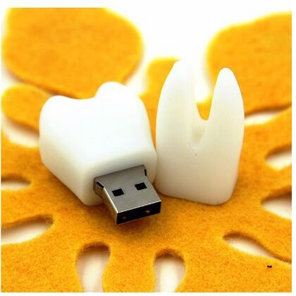 Pendrive Tooth Shape USB Flash Stick With Round Key Ring For Wedding Gift