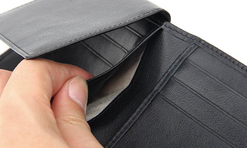 2f741fc8e9 schermato personalizzati rfid rfid portafoglio uomini portafoglio in pelle