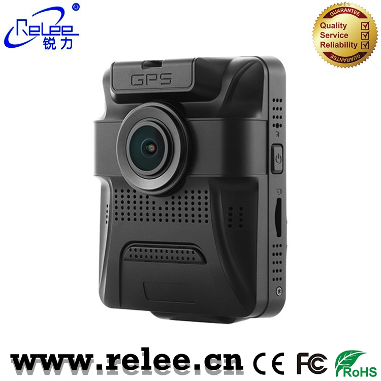 Super quality twin lens car camera with gps tracker full HD 1080P car backup camera DVR video recorder