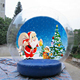 Large christmas snow globe pvc show ball inflatable snow globes