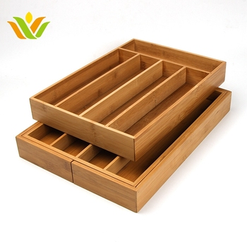 bamboo expandable kitchen drawer utensil organizer - Kitchen Utensil Organizer