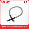 SS316 Fittings Flexible Spring Hose Connect to Gas Cylinder