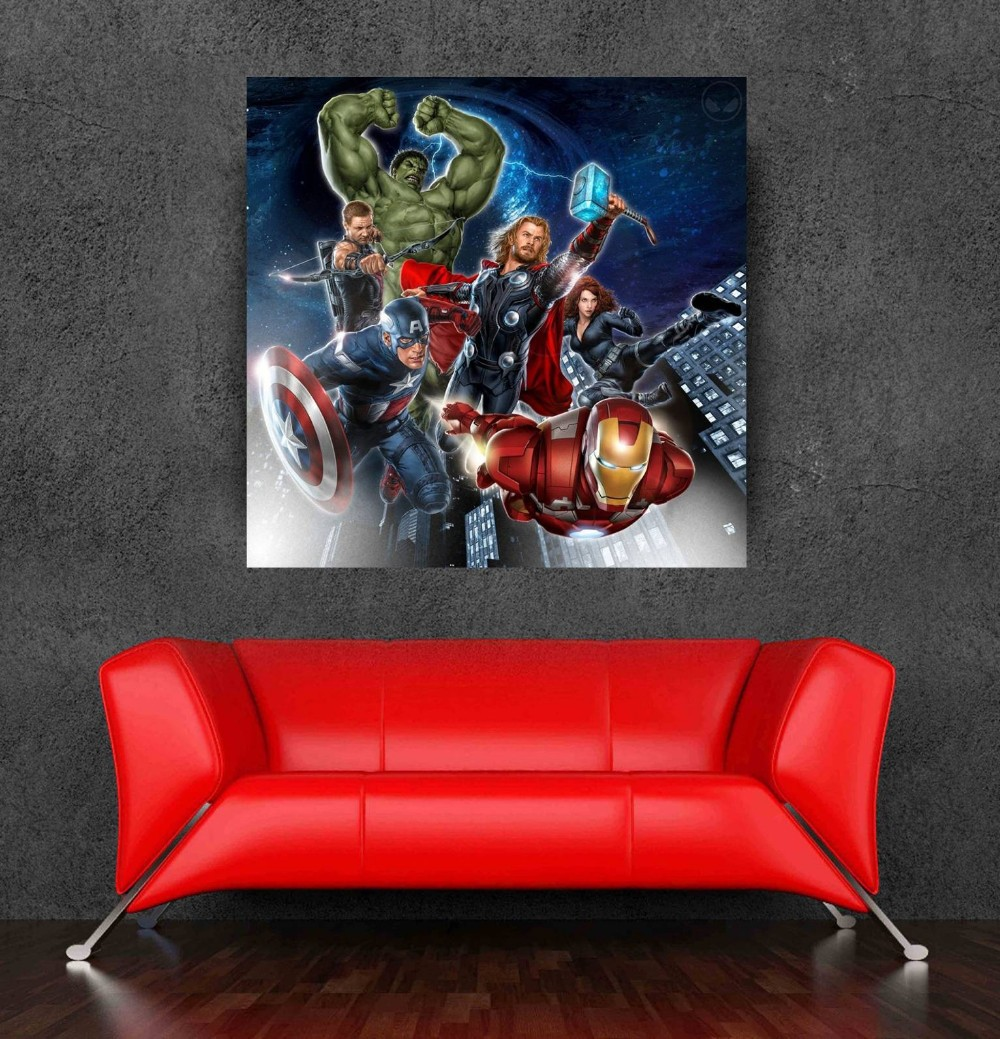 2015 Hot Movie Marvel Avengers Wall Sticker Poster Of Size