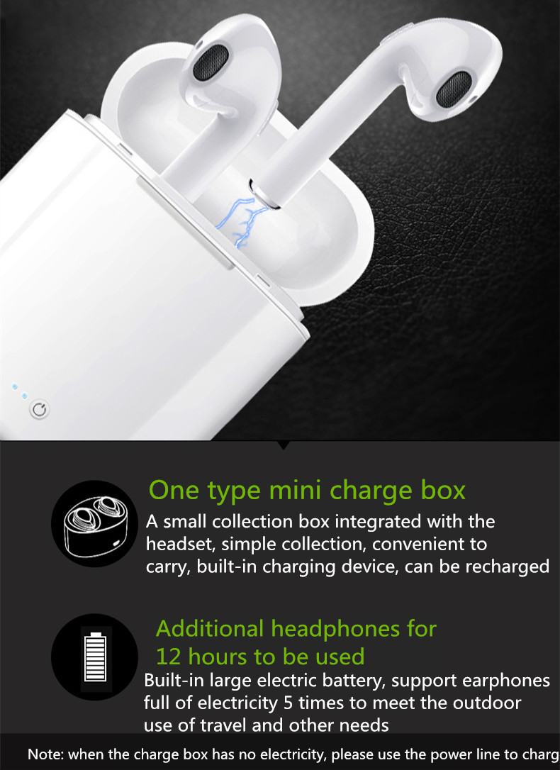 i7s Twins Bluetooth Headphones Wireless Earbuds Stereo Earphones Cordless Sport Headsets for AirPods For iphone 8 X