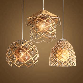new arrivals cd535 d6a8a New Design Asia Style Led Rattan Chandelier Light Fitting Indoor Home  Modern Hemp Rope Metal Pendant Lighting - Buy Led Chandelier Light,Rattan  ...