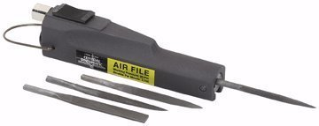 Central Pneumatic Air File With Flat Cut, Half Round, Round and Triangular Files