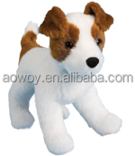 custom printed logo Imprinted standing plush dog stuffed dog terrier animal toys 91