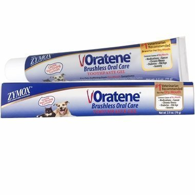 Zymox Oratene Brushless Oral Care Toothpaste Gel 2.5 oz. for Dogs and Cats - #1 Vet Recommended for Dry Mouth